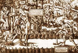 Földön játszott ős-biliárd a 15. században