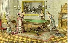 Biliárdozó nők a 18. században